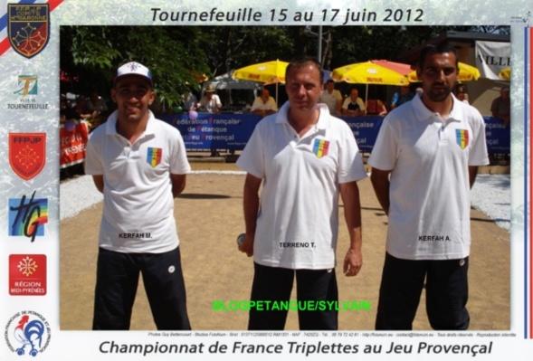 Les qualifiés triplettes par la ligue