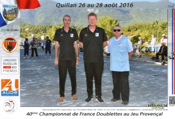 1er France doublettes au Jeu Provençal perdu en 1/32ème contre CHACON-MICHELET du 66