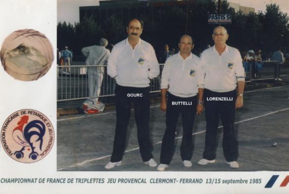 1985 au championnat de France triplettes à CLERMONT-FERRAND