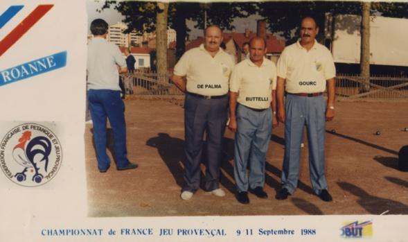 1988 au championnat de France triplettes à ROANNE