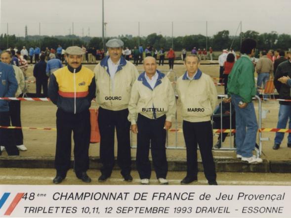 1993 au championnat de France triplettes à DRAVEIL