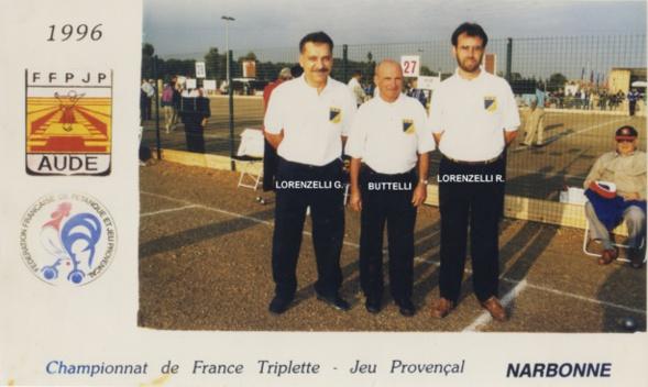 1996 au championnat de France triplettes à NARBONNE