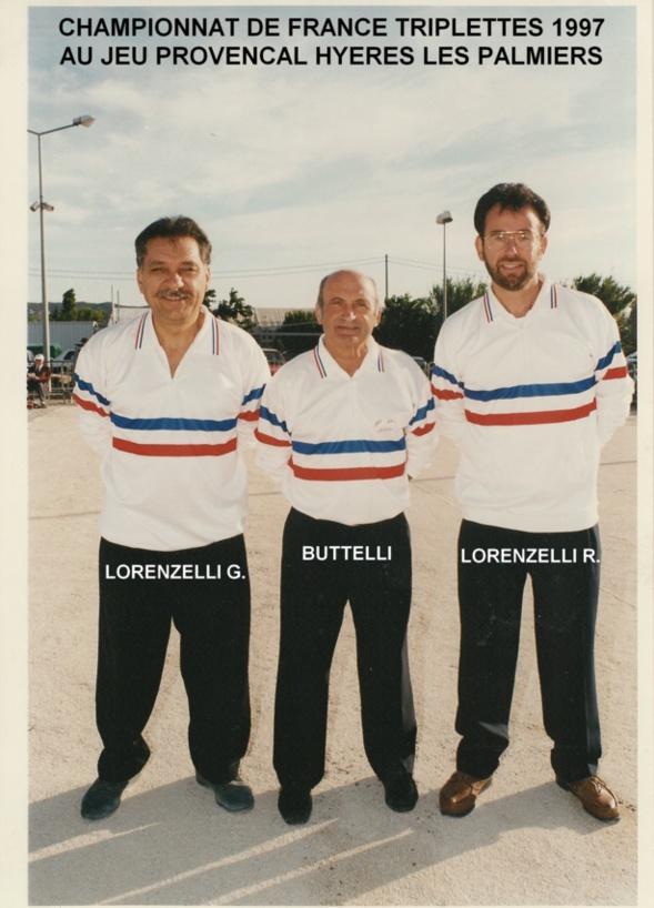 1997 au championnat de France triplettes à HYERES