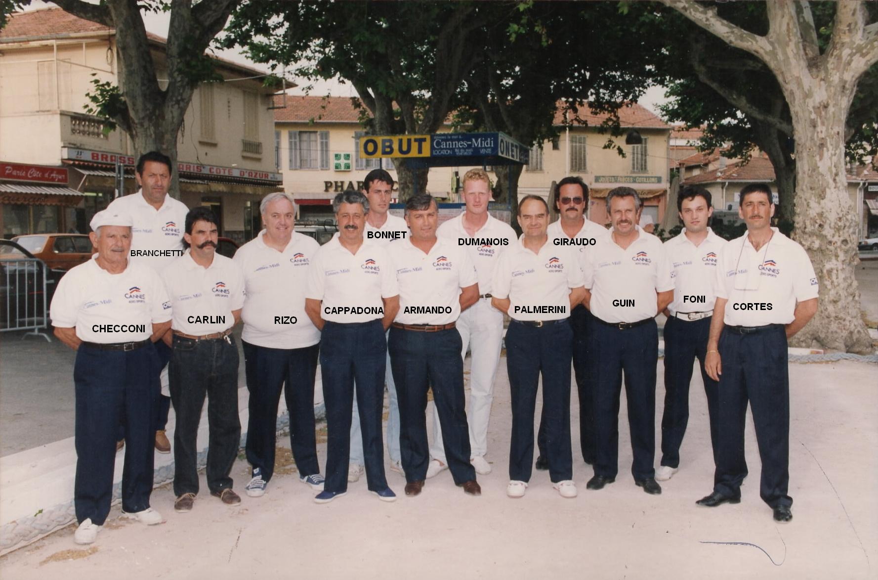 Les joueurs du C.A.S. en 1992 pas mal non ?