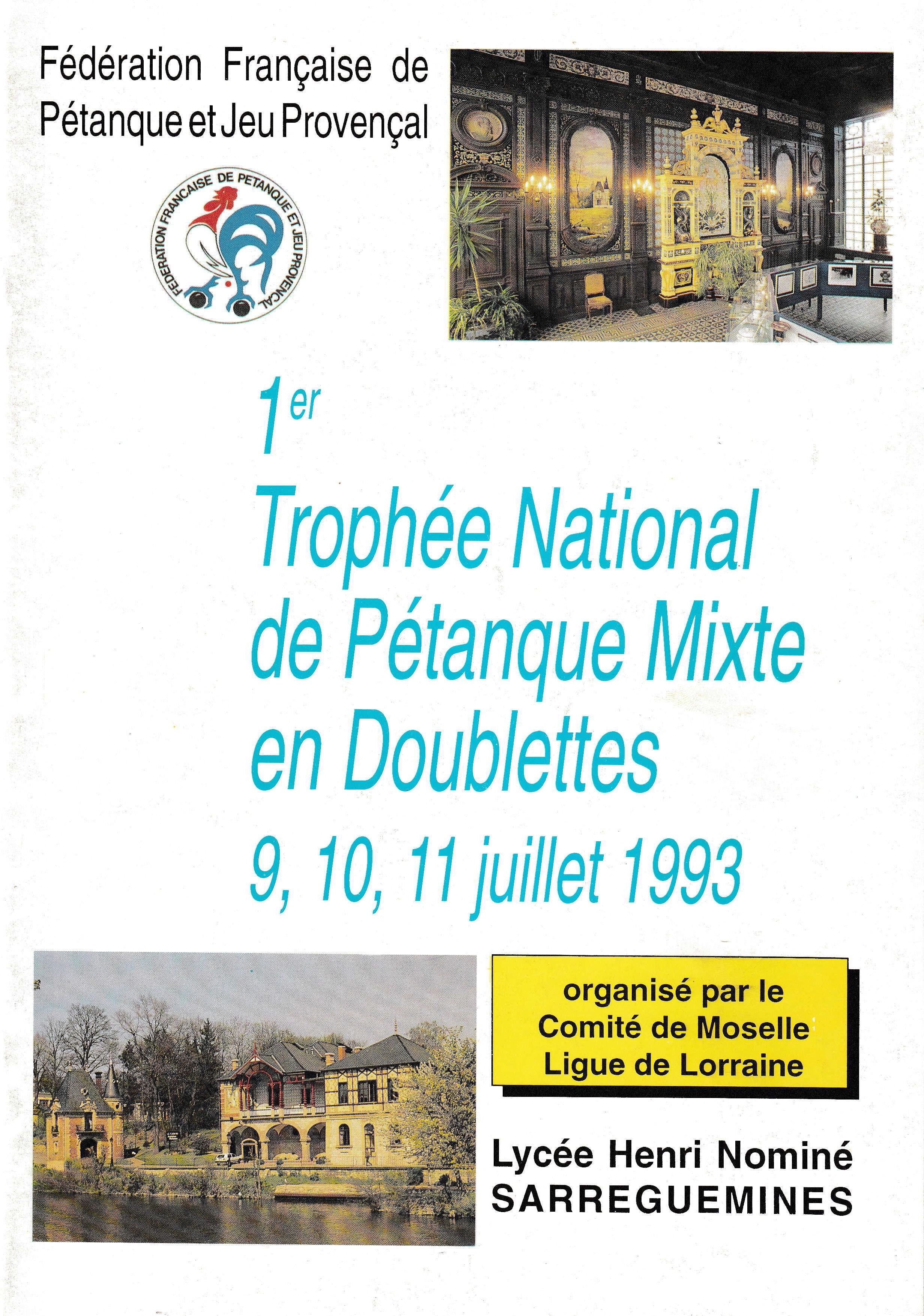 Tous les joueurs et joueuses qualifiés au Championnat de France mixte doublettes de 1993 à 2018