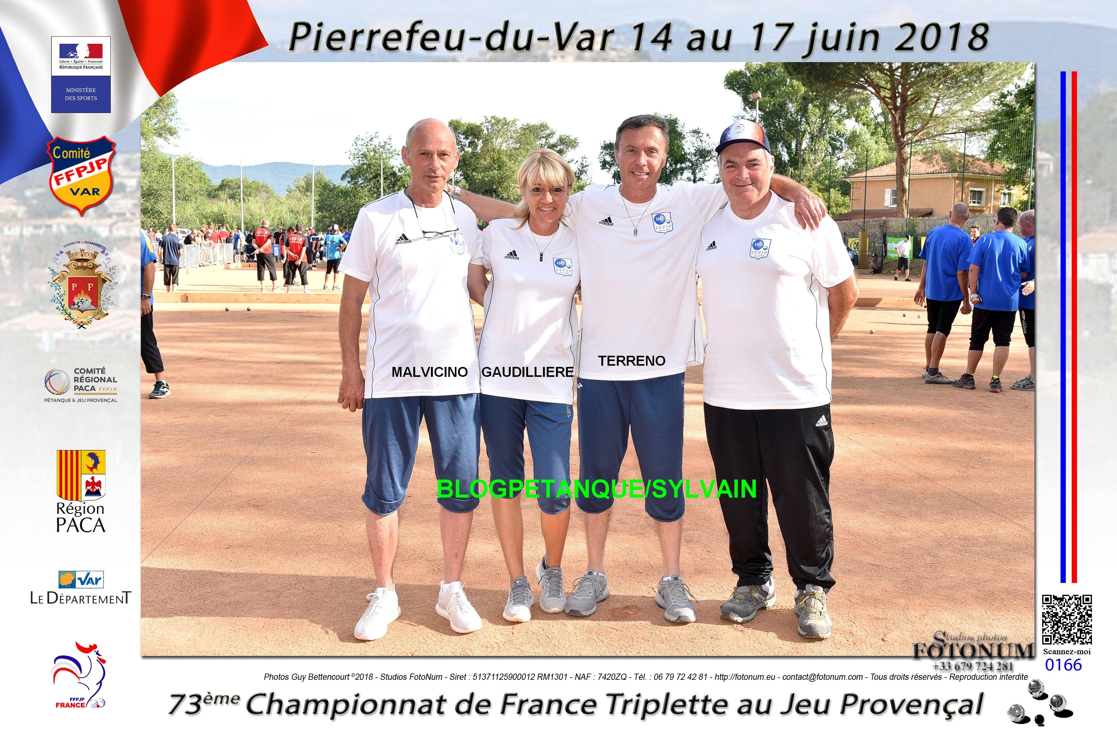 Les 1/2 finalistes triplettes du 06
