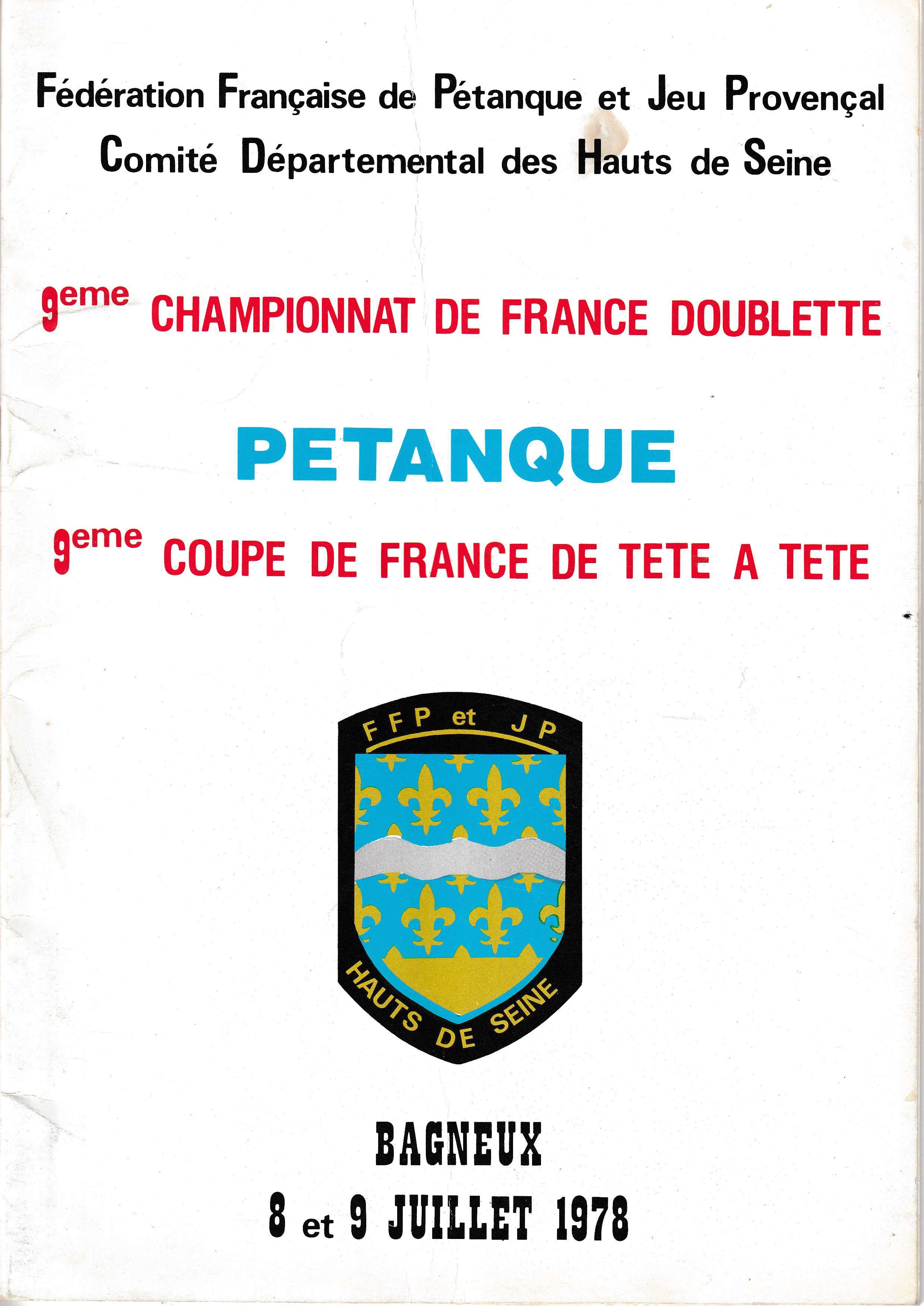 Tous les joueurs qualifiés au Championnat de France individuel de 1966 à 2018