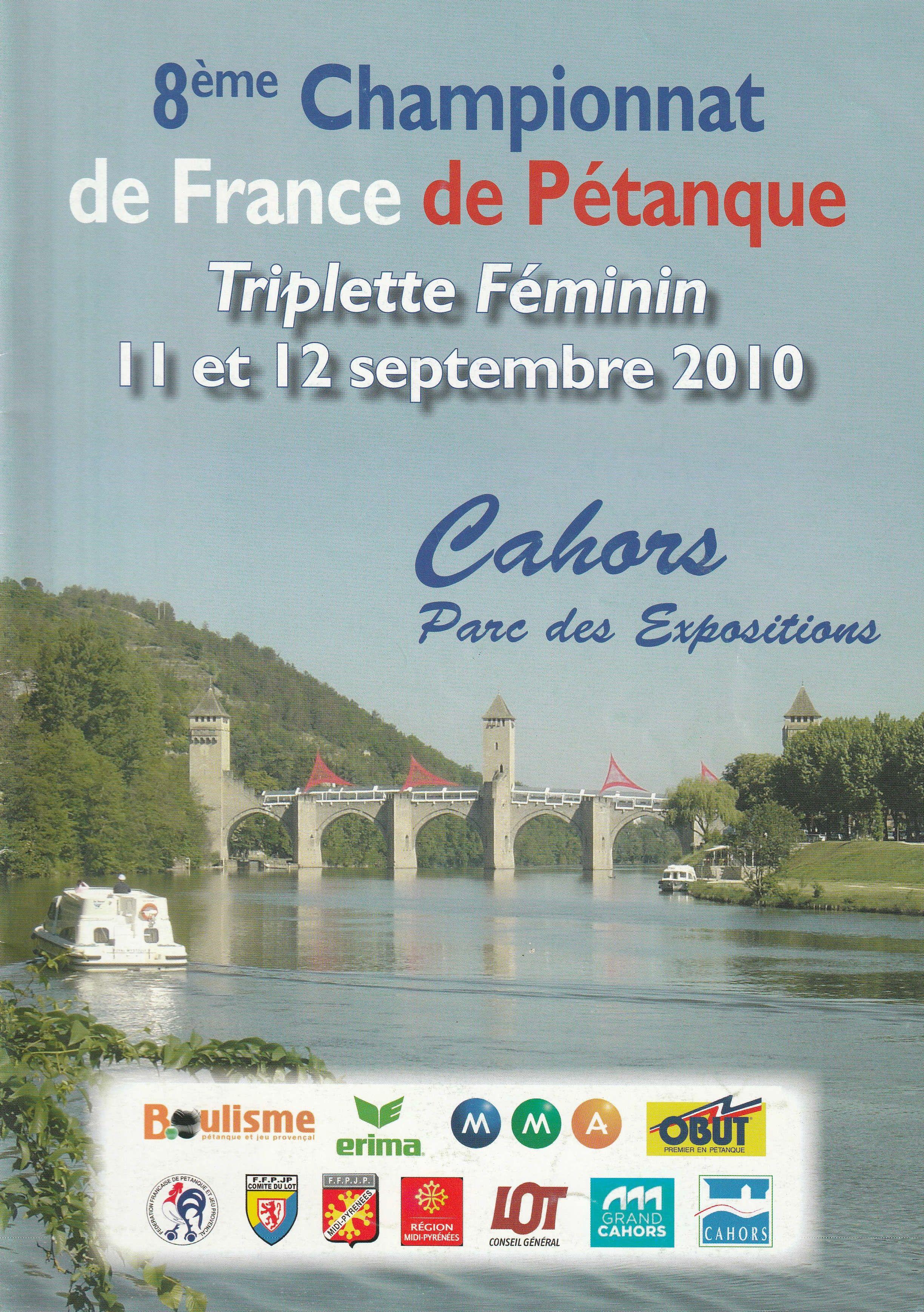 Toutes les joueuses qualifiées au Championnat de France triplettes féminines de 2003 à 2018