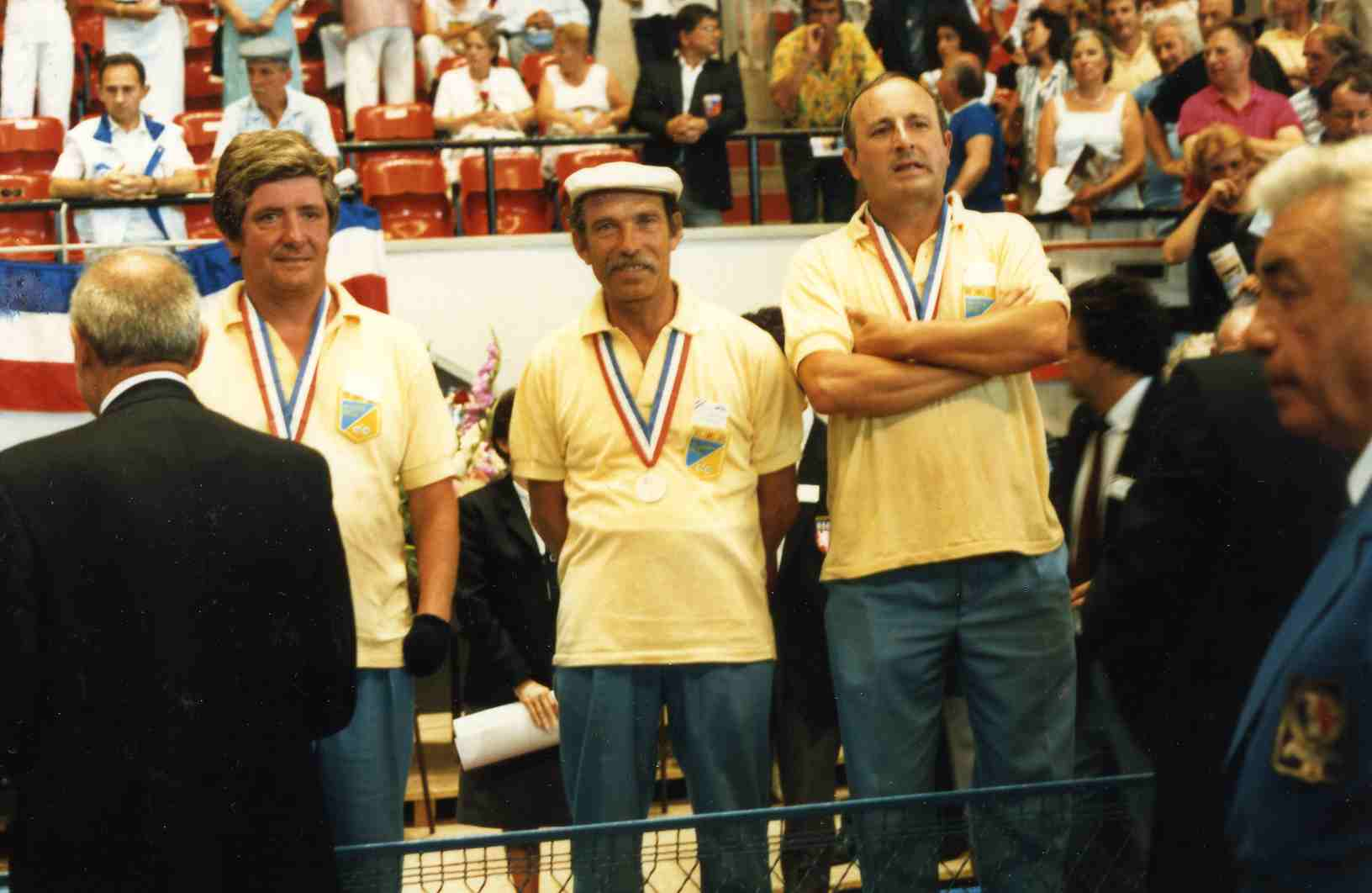 Le podium du championnat de France 1987