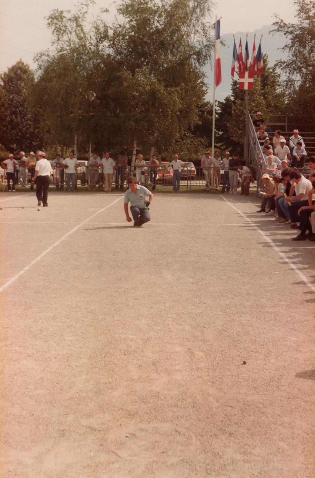 Michel au championnat de France individuel 1982 à CHAMBERY