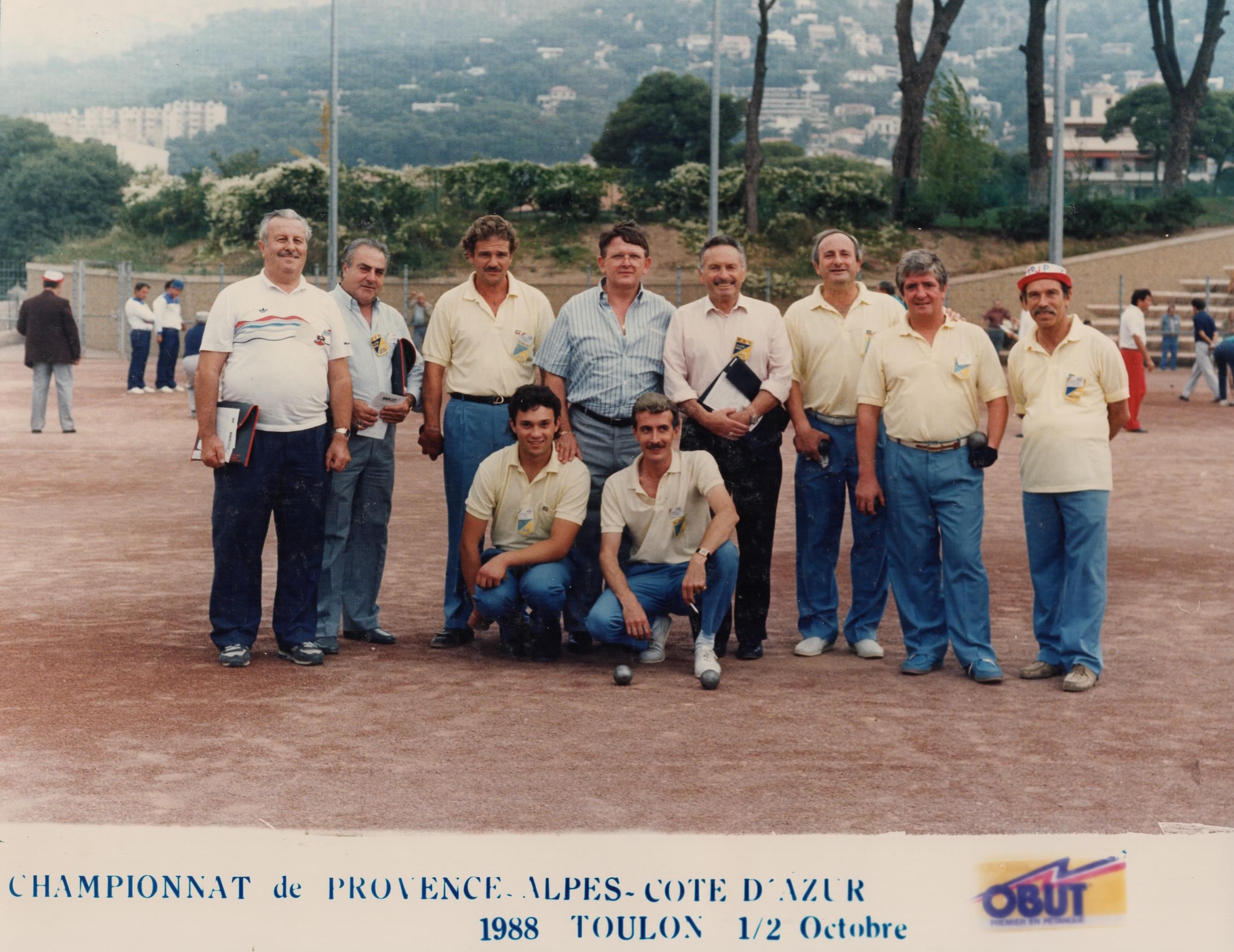 Les qualifiés de la Mini-Boule Laurentine au championnat de ligue 1988 (photo Jean-Claude MEYER)