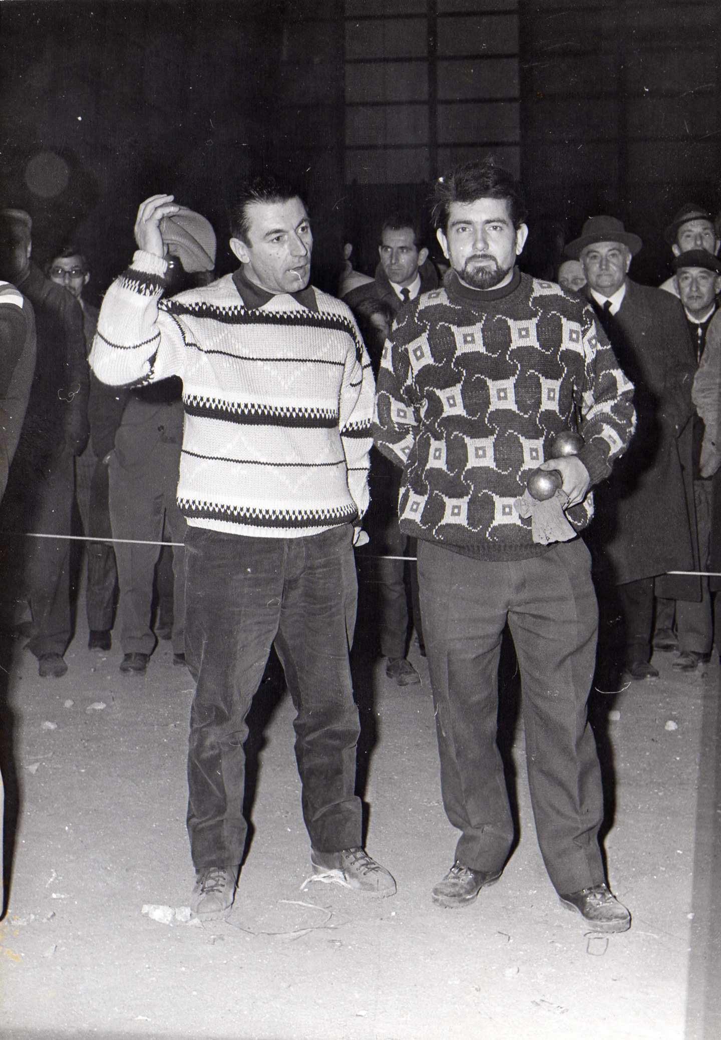 Jean PAON et Tchois MERCURIO lors d'un concours à PARIS