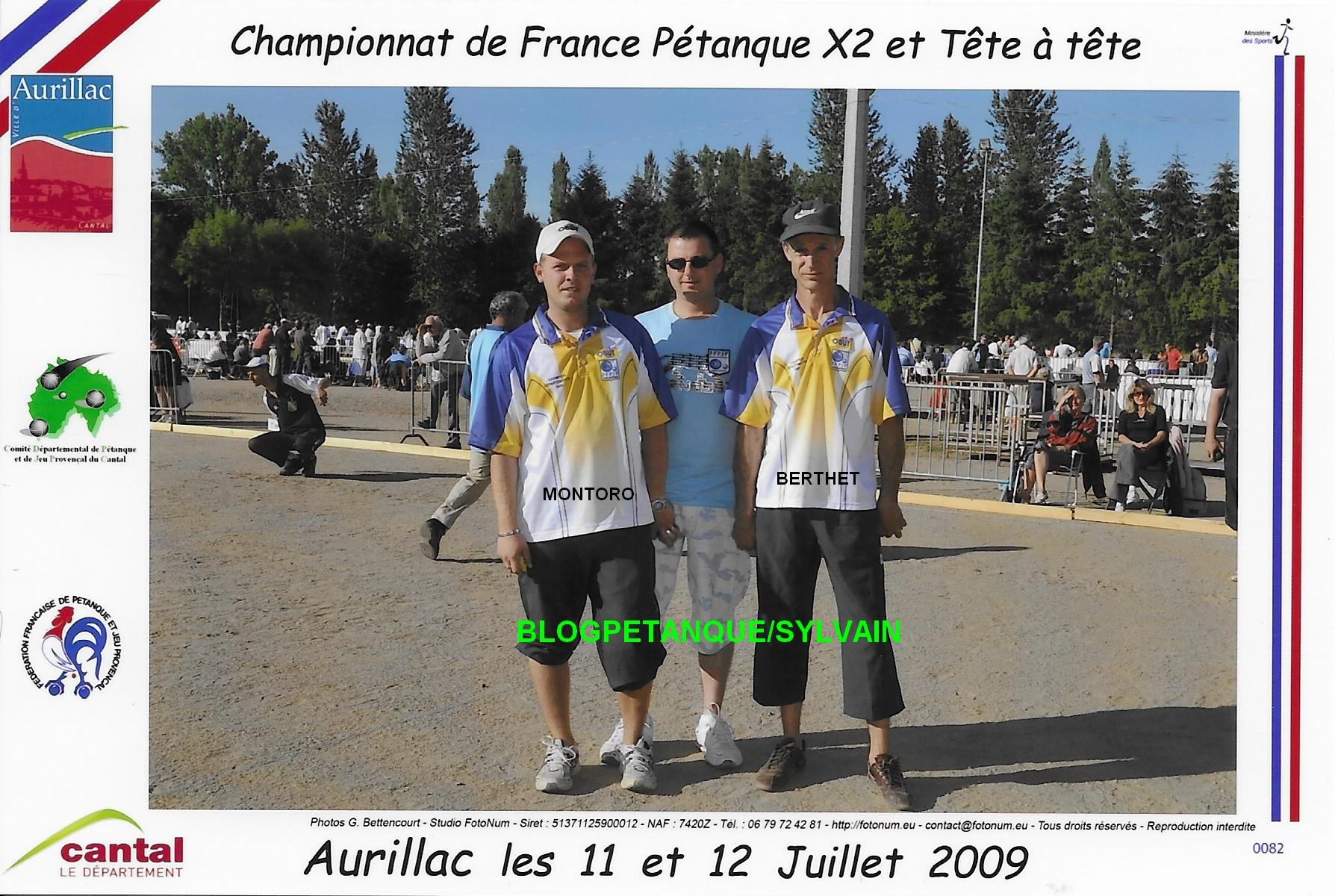 L'année 2009 à la Pétanque