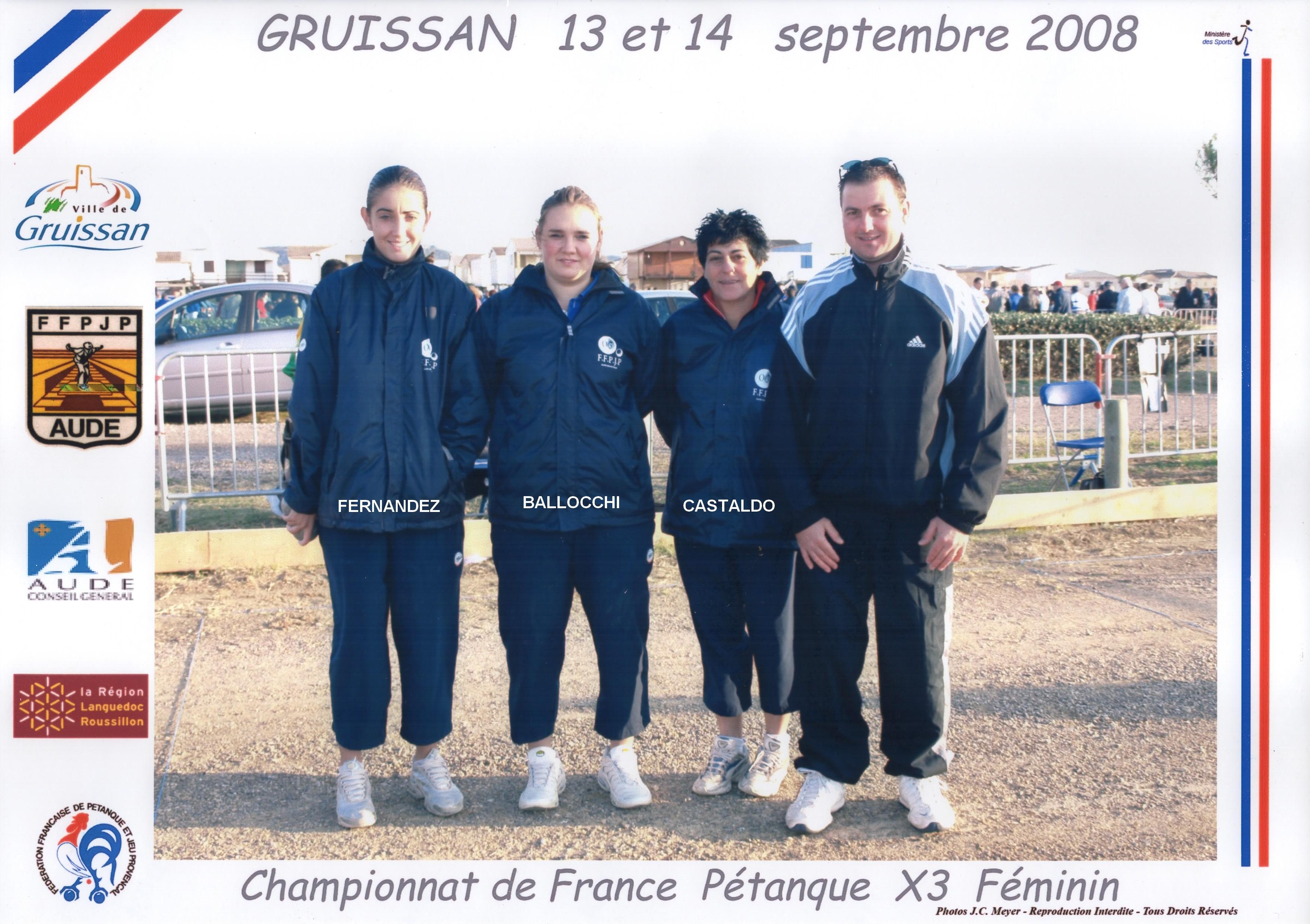 Les vices-championnes triplettes du 06