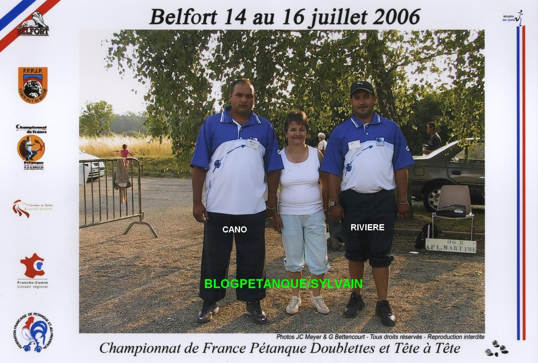 Les vices-champions doublettes du 06