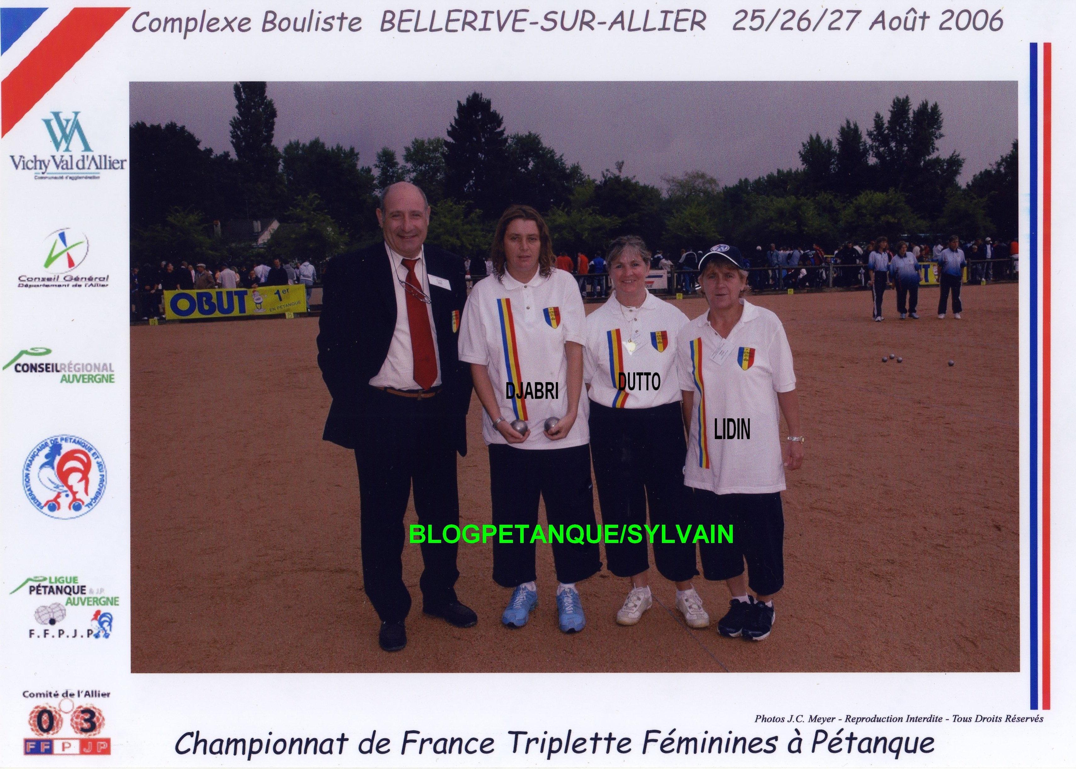 Les championnes doublettes du 06