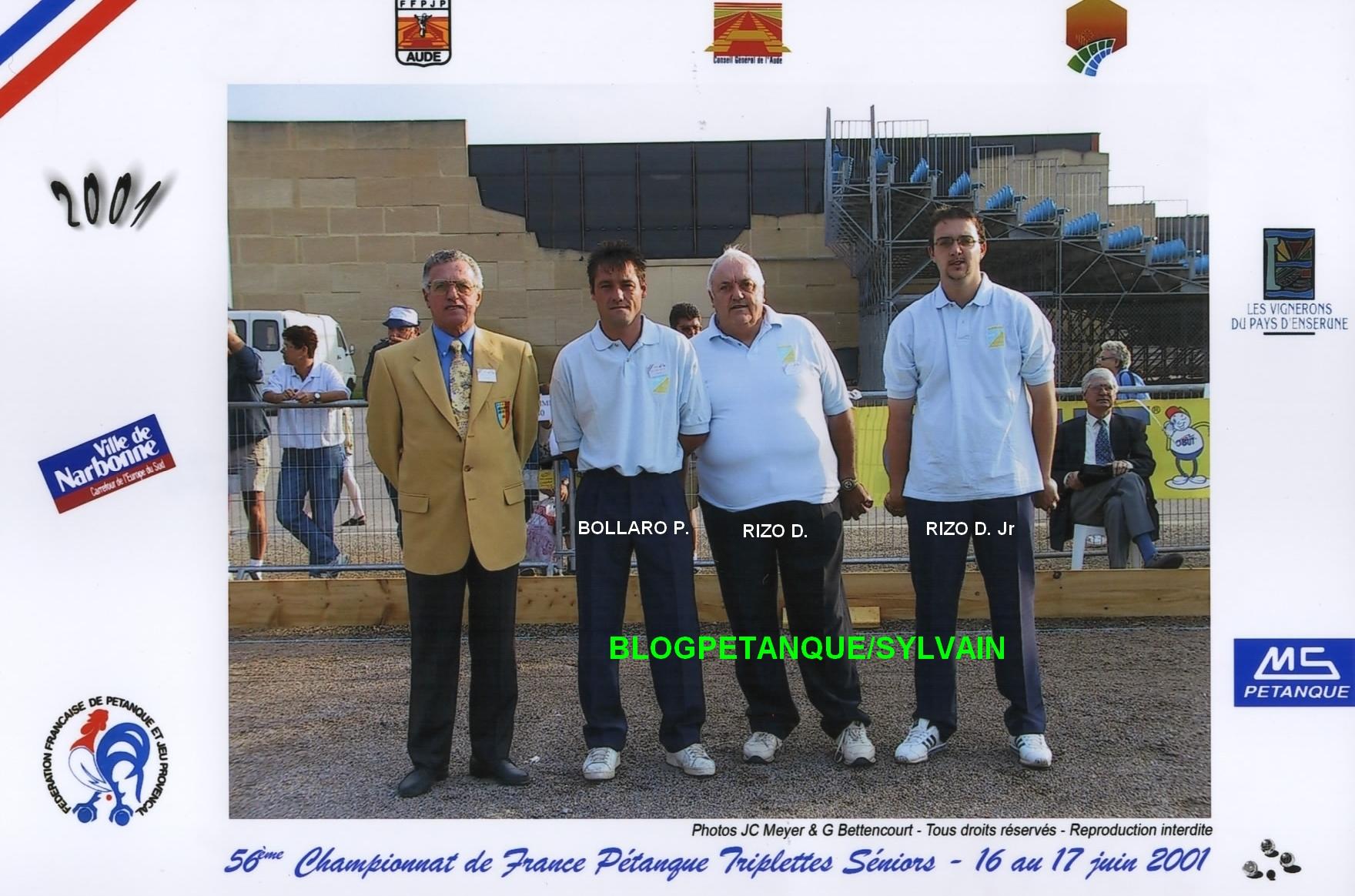 Les vices champions de ligue triplettes du 06