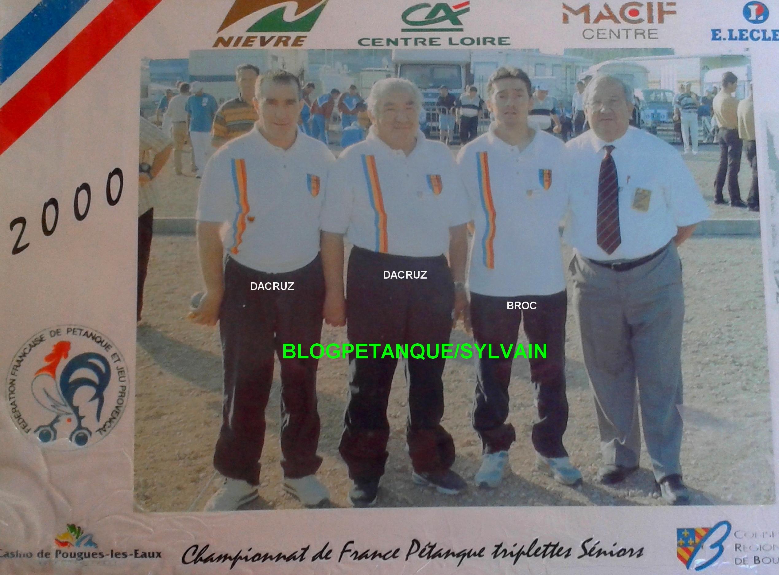 Les champions de ligue triplettes du 06