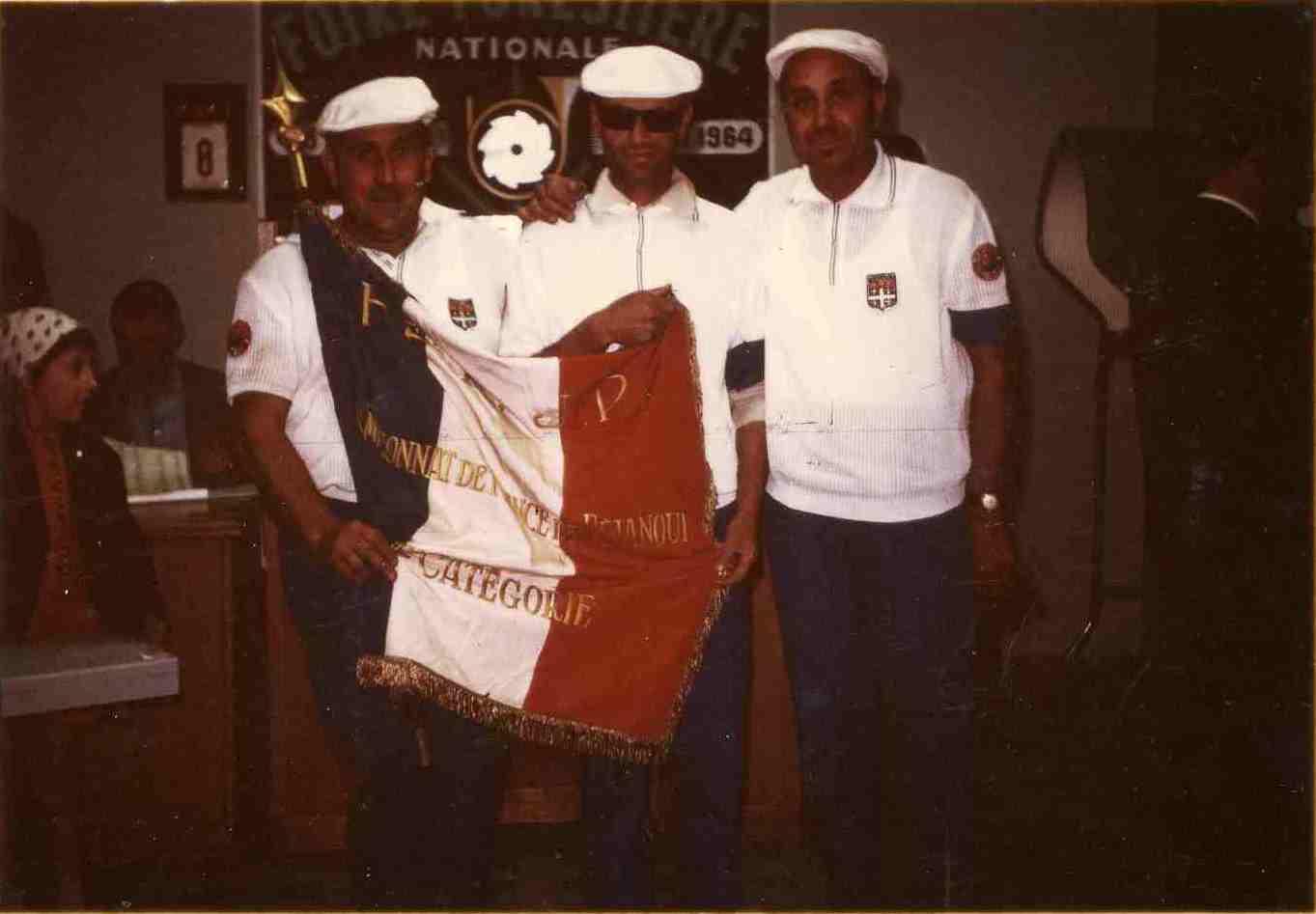 Les champions de France triplettes 1964 > Adolphe MACCAGNO - Alphonse PELLI - Maurice GAVINO