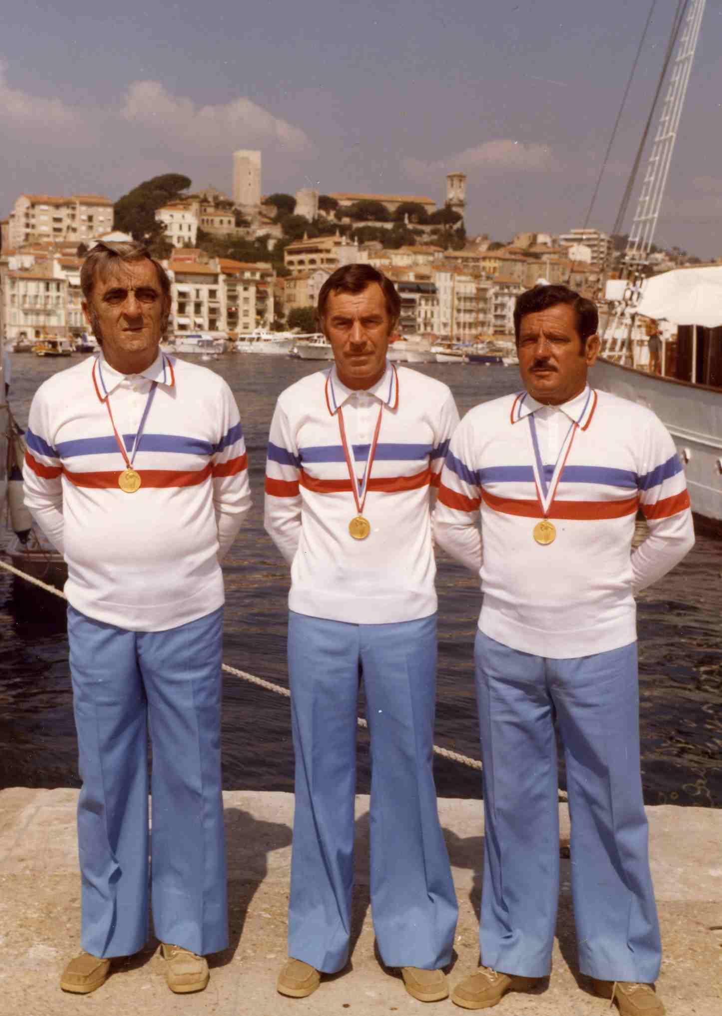Les champions de France triplettes 1976 > Elio TINI - Raymond FRESCURA - Ange ARCOLAO