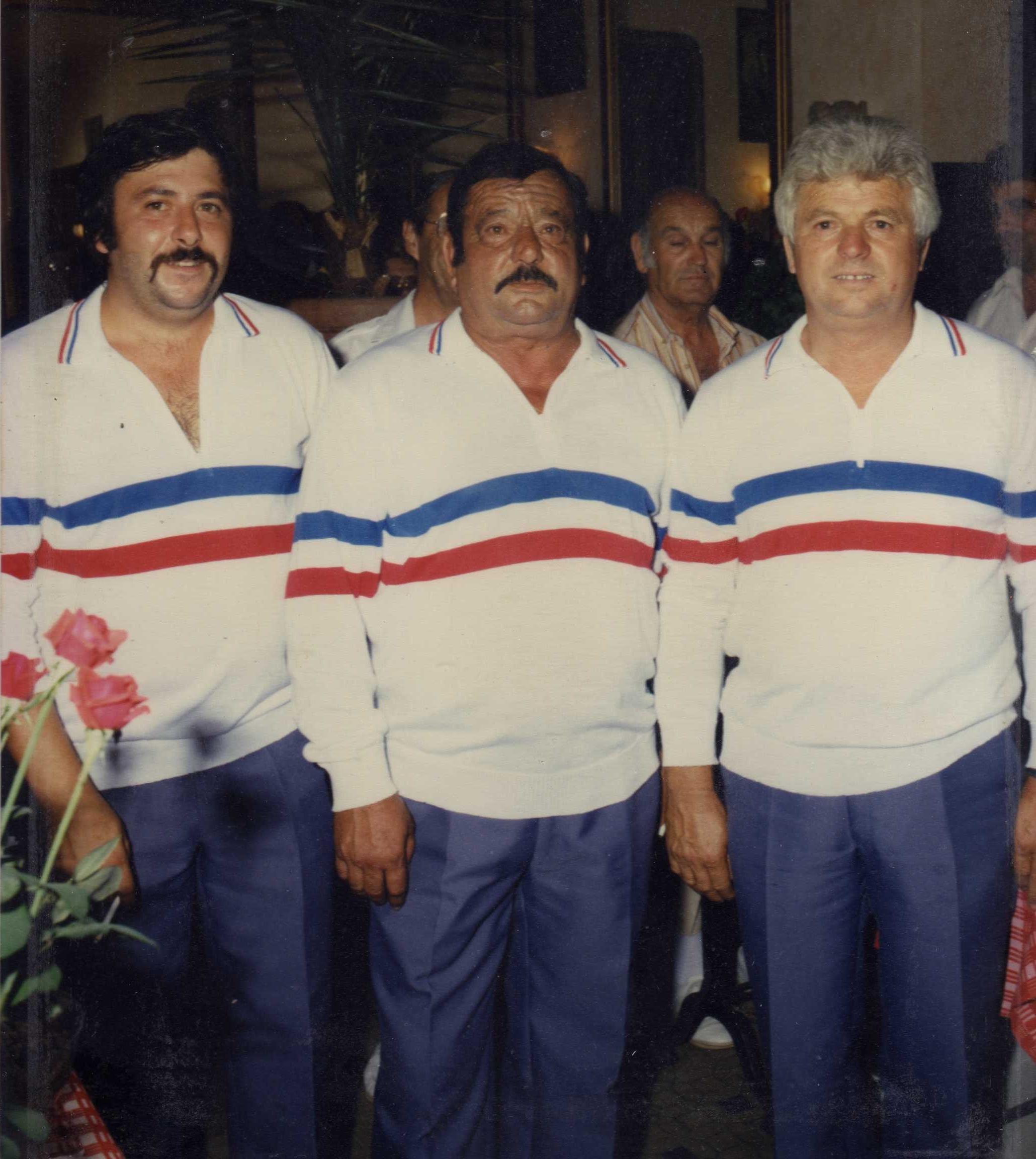 Les champions de France triplettes 1986 > Christian ARCOLAO - Ange ARCOLAO - Aristide ZANGARELLI