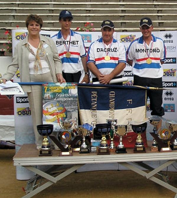 Les champions de France corporatifs 2005 > Serge BERTHET, Pascal DACRUZ et Ludovic MONTORO