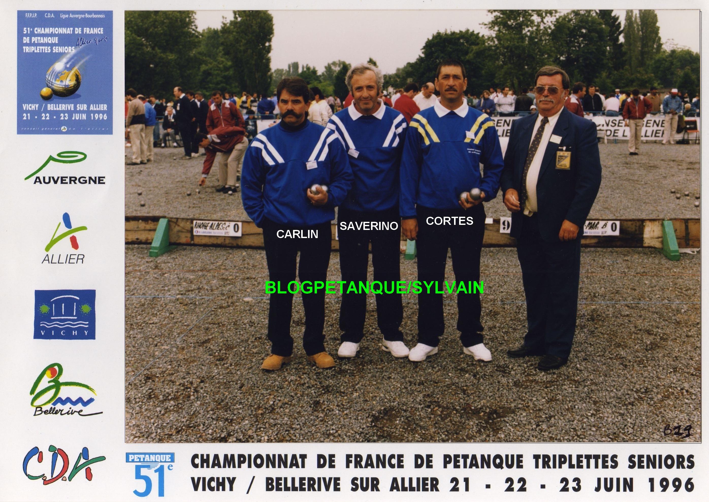 Les 1/4 finalistes triplettes du 06