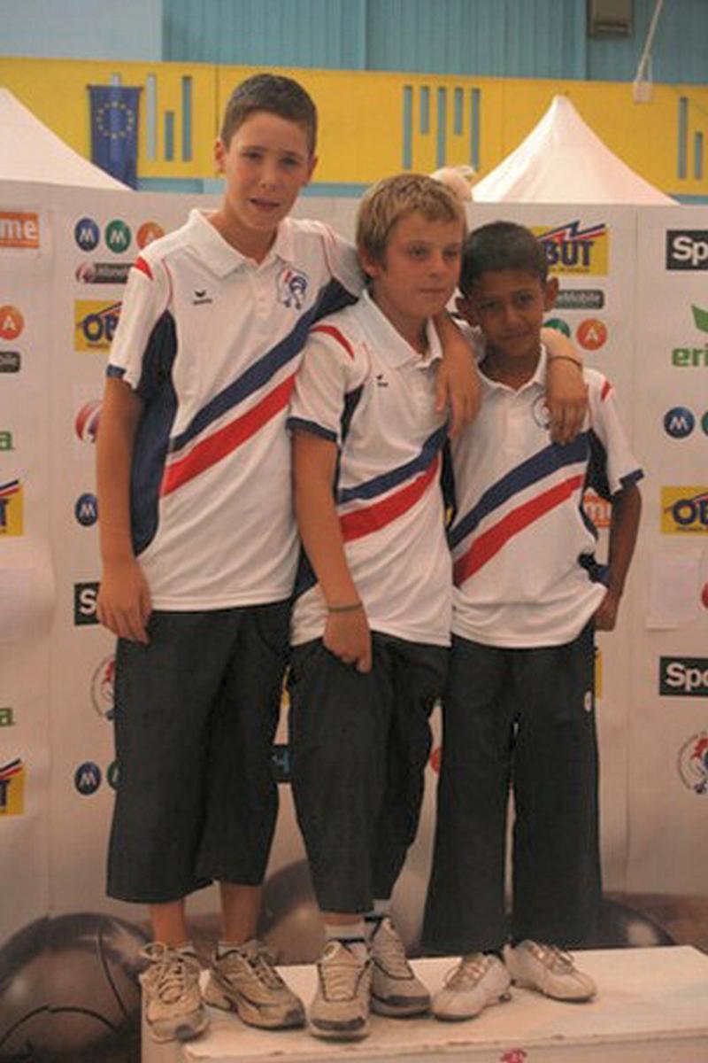 Les champions de France minimes 2009 > Alexandre AUGIER - Vincent AZEVEDO et François GOMEZ