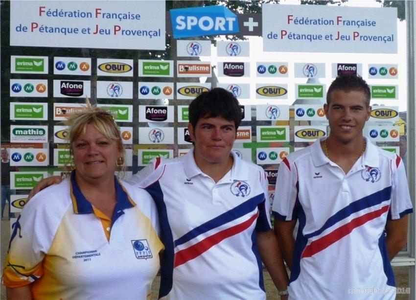 Les champions de France mixte 2012 > Christine SAUNIER et Dylan ROCHER