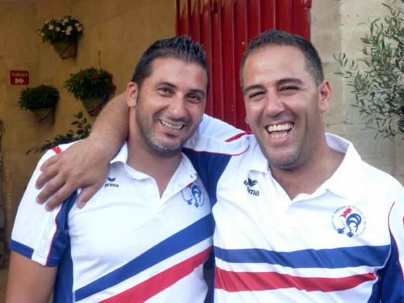 Les champions de France doublettes au Jeu Provençal 2013 > Mohamed BENMOSTEFA et Fabrice ROUVIN