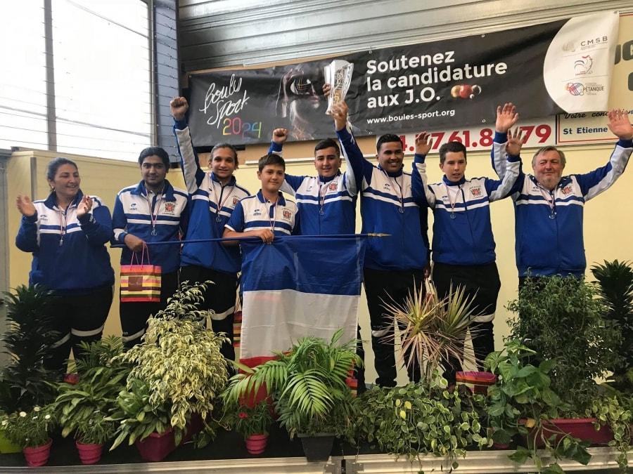 L' équipe de la Mini-boule Laurentine championne de France 2018 des clubs catégorie cadets-juniors