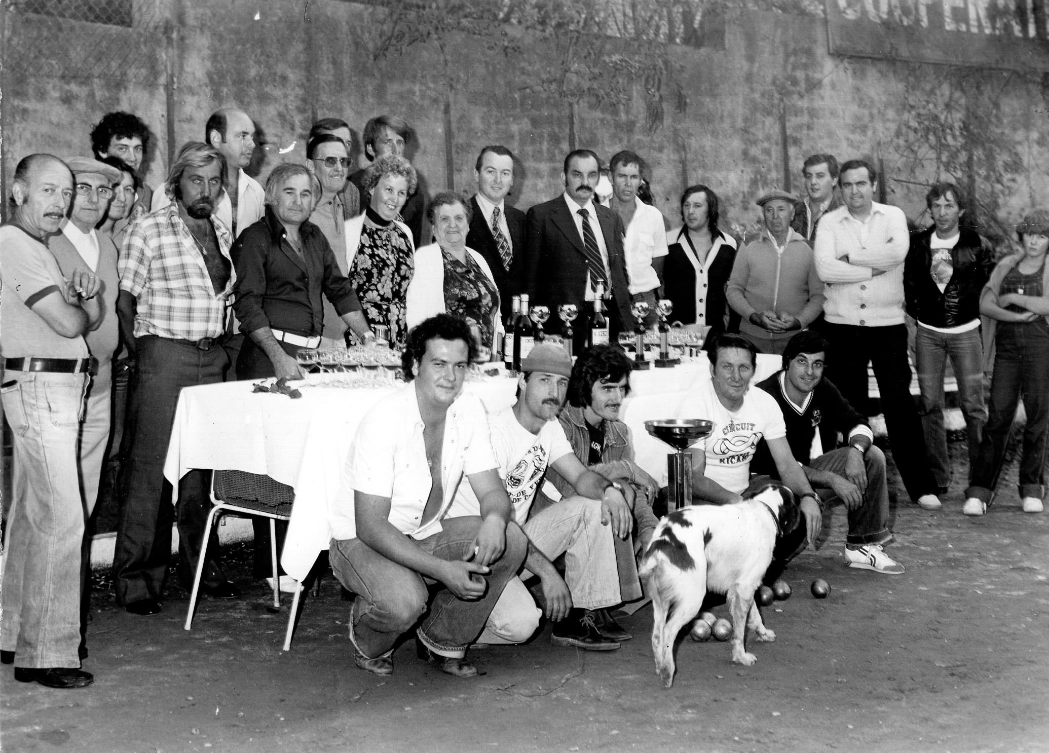 Concours à l' Amicale Mistral du Cannet durant l'été 1979