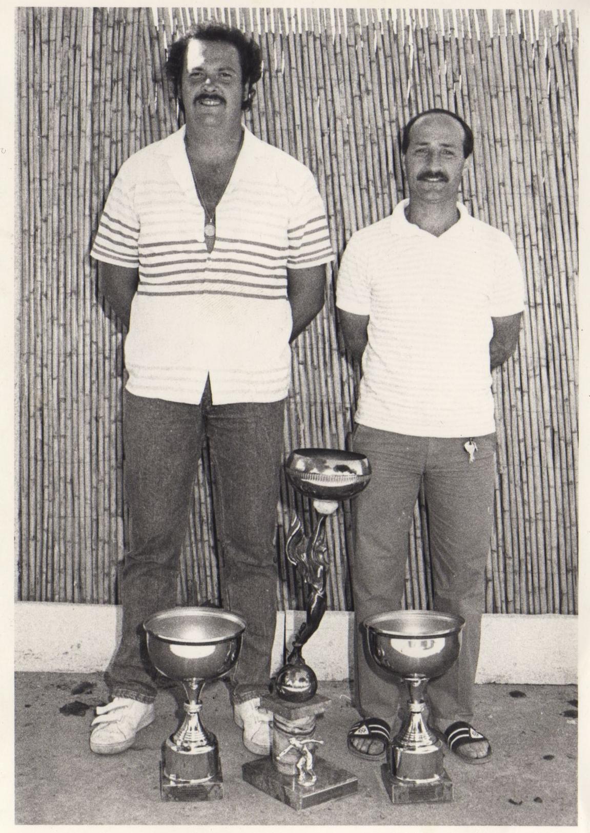 1986 la doublette championne des Alpes-Maritimes