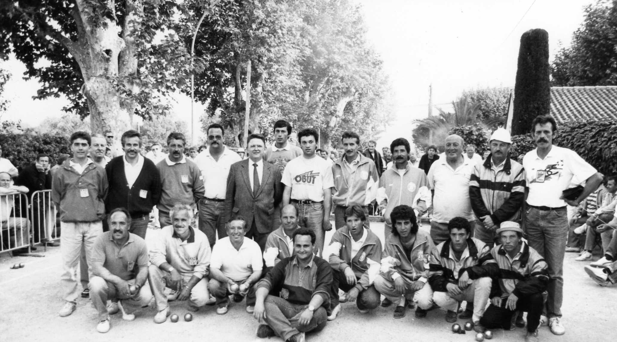 1990 ST LAURENT DU VAR tous les qualifiés triplettes pour le CDF à BRIVE
