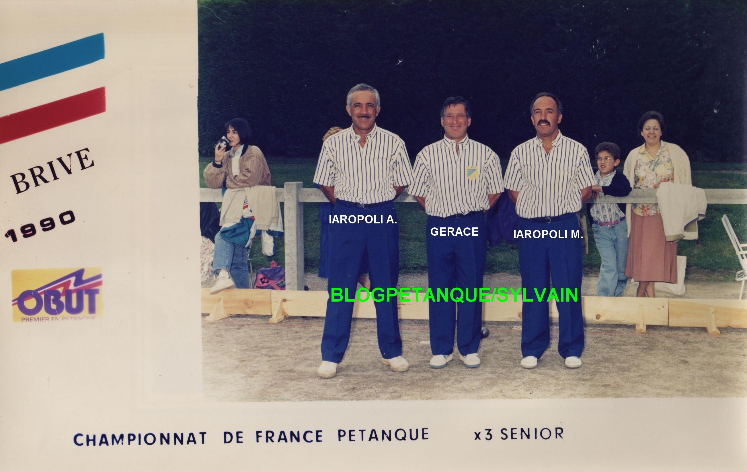 L'année 1990 à la Pétanque