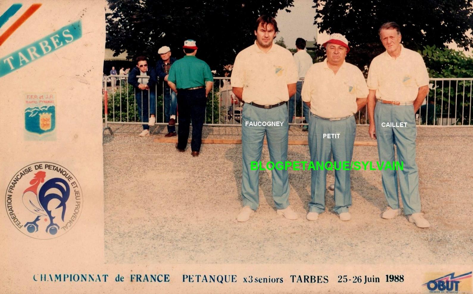 Les vices champions de France 1987 qualifiés d'office