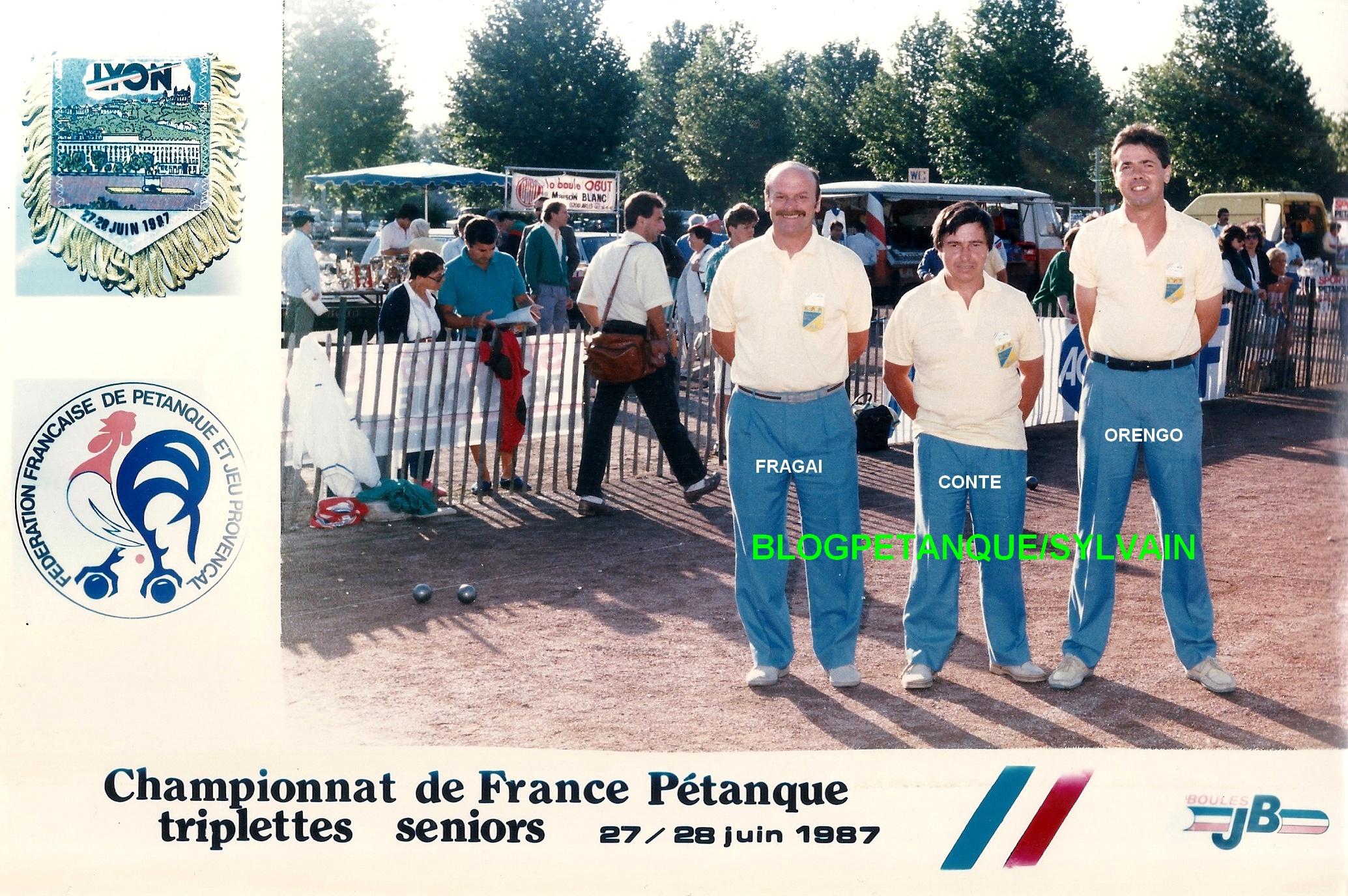 L'année 1987 à la Pétanque
