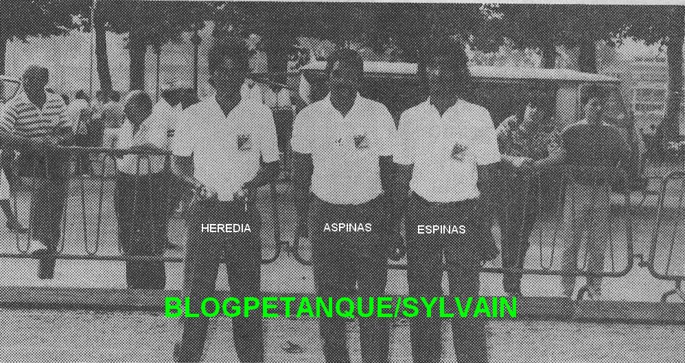 L'année 1986 à la Pétanque