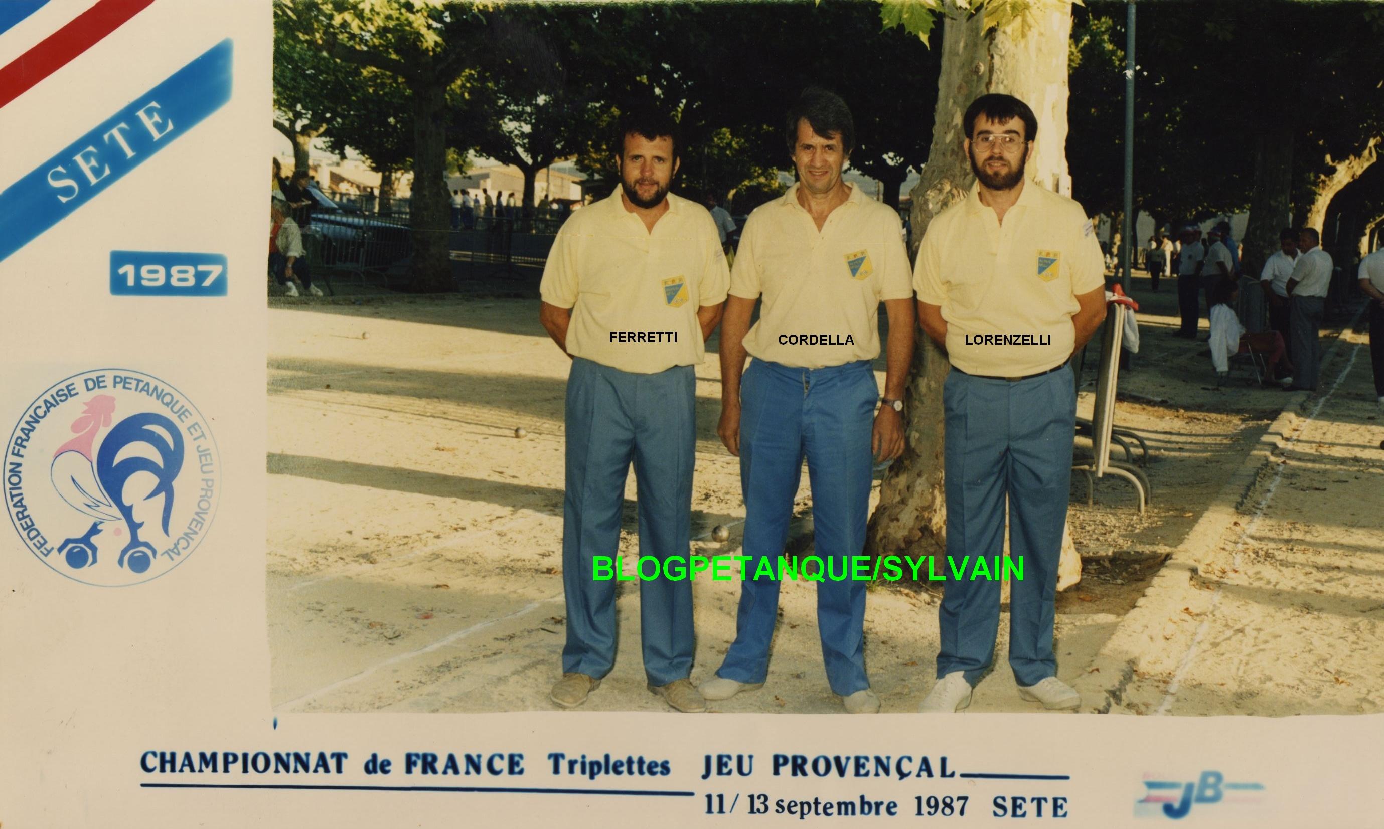 L'année 1987 au Jeu Provençal