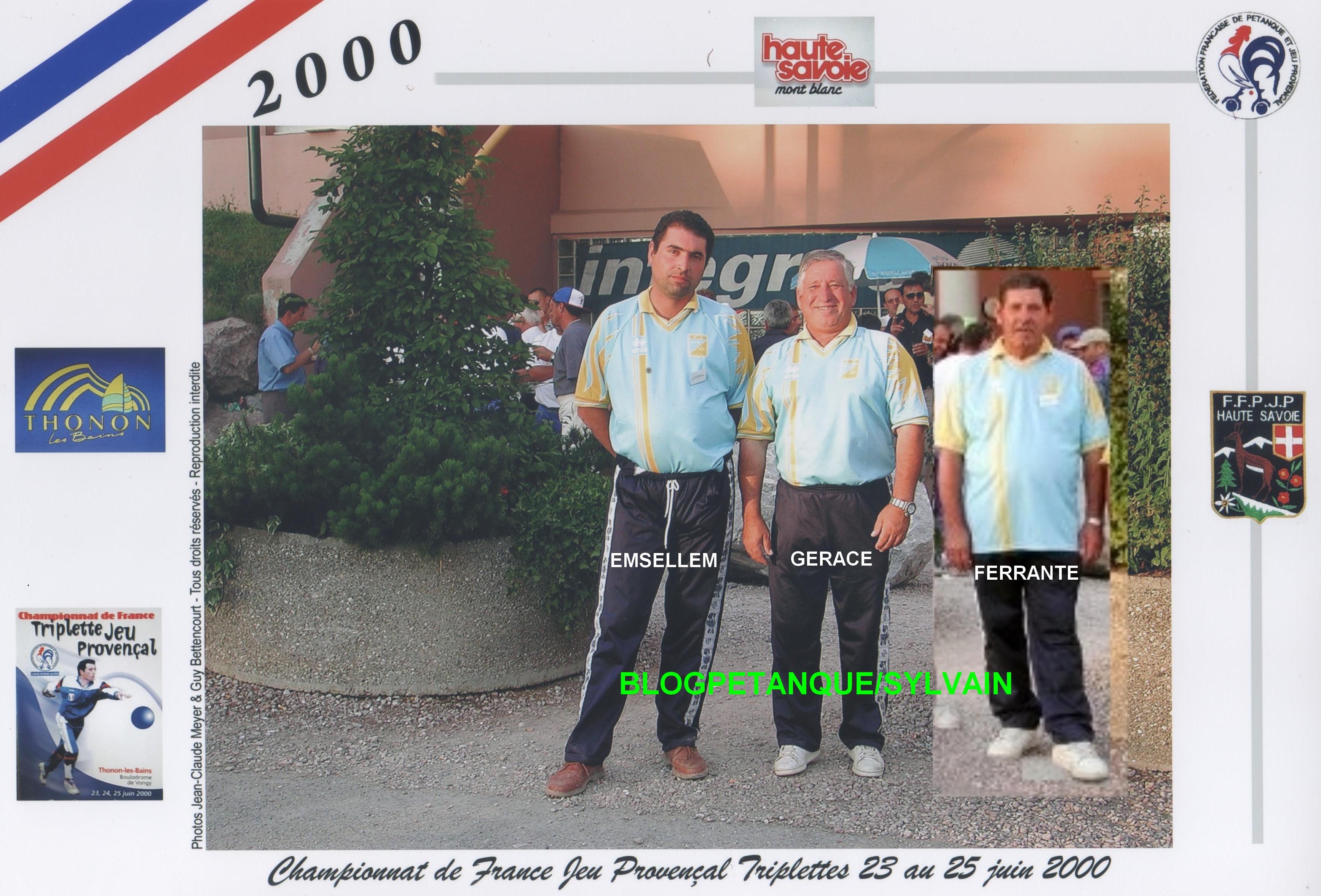 L'année 2000 au Jeu Provençal