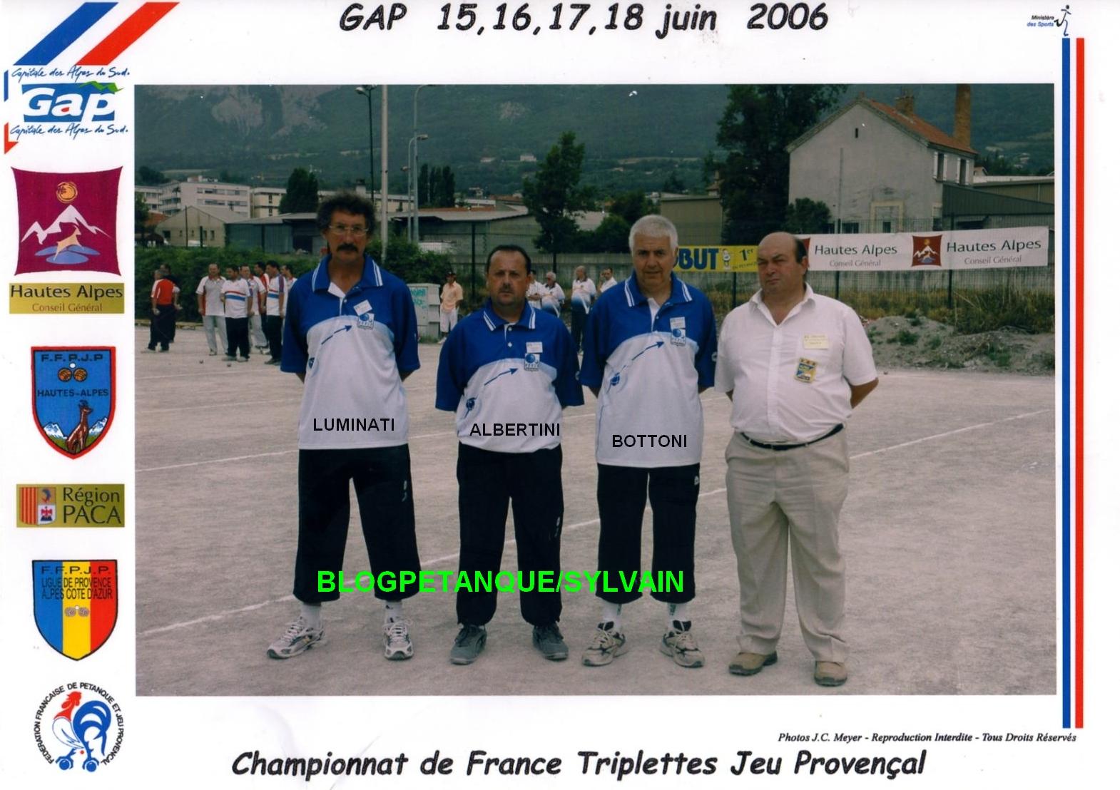 L'année 2006 au Jeu Provençal