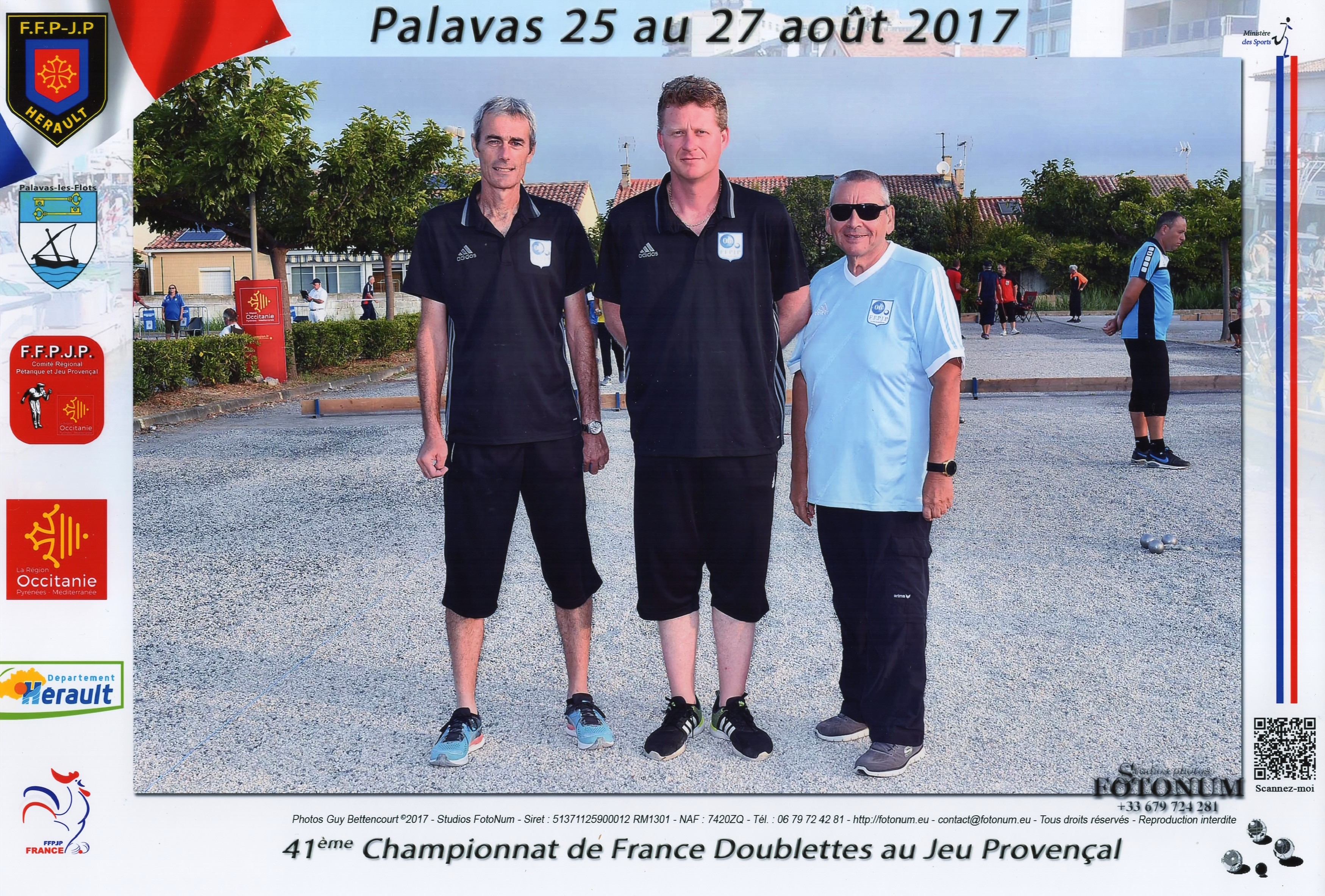 2ème France doublettes au Jeu Provençal perdu au barrage des poules contre BAZIN-CONREAU du 88