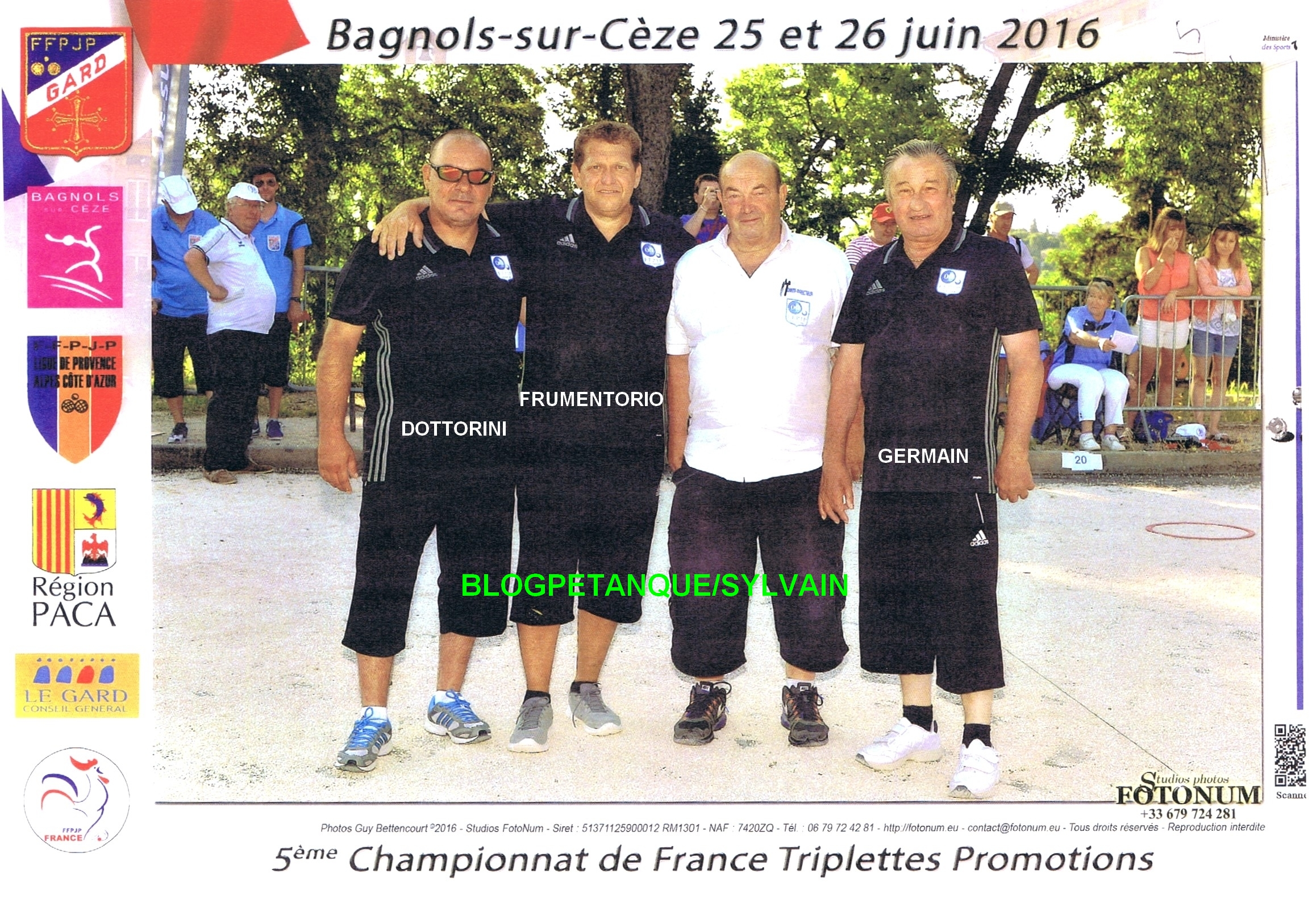 Les vices champions doublettes qualifiés par la ligue