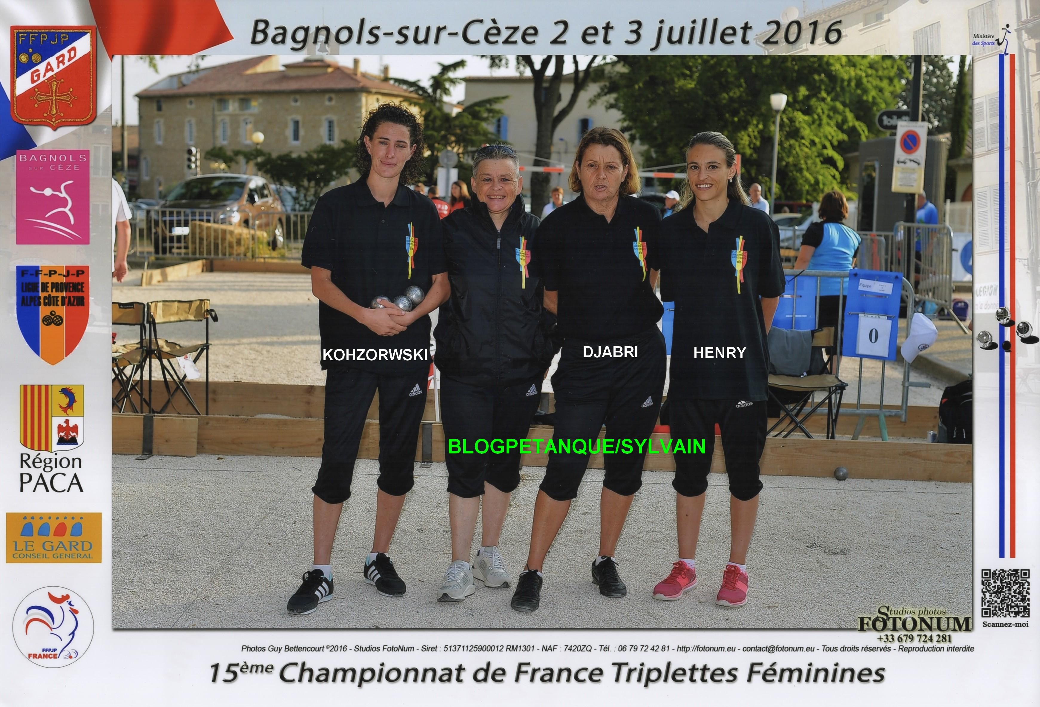 Les champions cadets du 06 et vices champions de France 2016