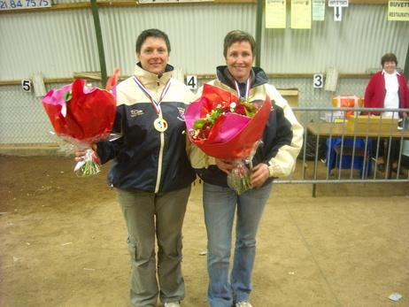 Sophie et Sylvia championne de la 1ere coupe de ligue doublette des Hauts de France 2010 à Etaples 62