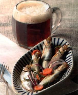 Sprats à la bière rousse