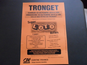 """Super LOTO """"RIFLES"""" de la pétanque Trongetoise"""