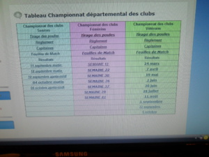 Dates des différents concours