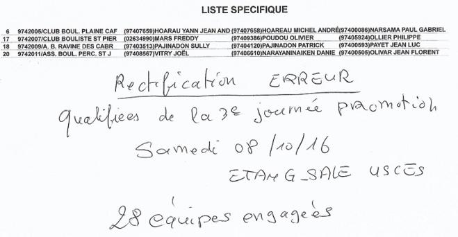 3EME JOURNEE QUALIF PROMOTION TRIPLETTES DISTRICT SUD