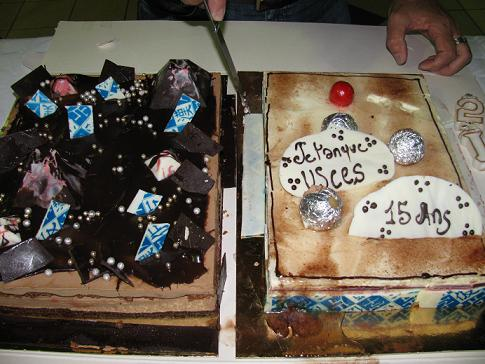 Surprise: un gâteau d'anniversaire pour les 15 ans de l'USCES